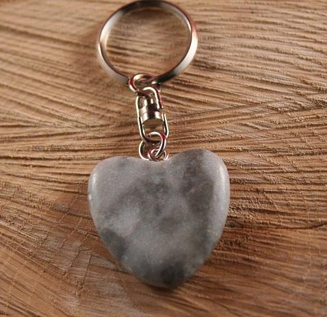 sleutelhanger natuursteen hart
