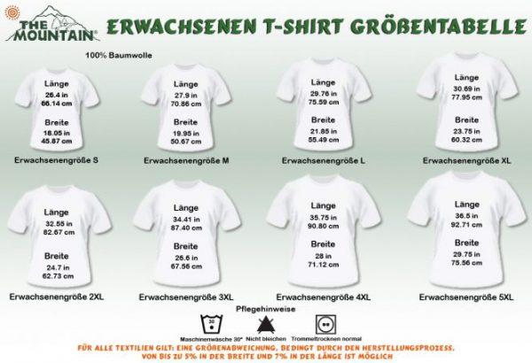maattabel t-shirt