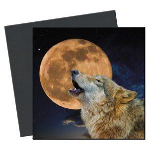 wolf en maan